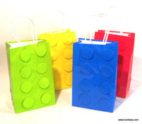 LEGO Style Paper Bags - add on SOLD EACH