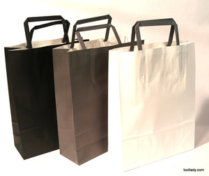 Medium Paper Bags with handle - add on SOLD EACH