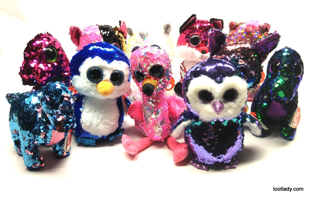 b828758e635 NEW Flippables Sequin Beanie Boos!