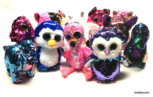 NEW Flippables Sequin Beanie Boos!