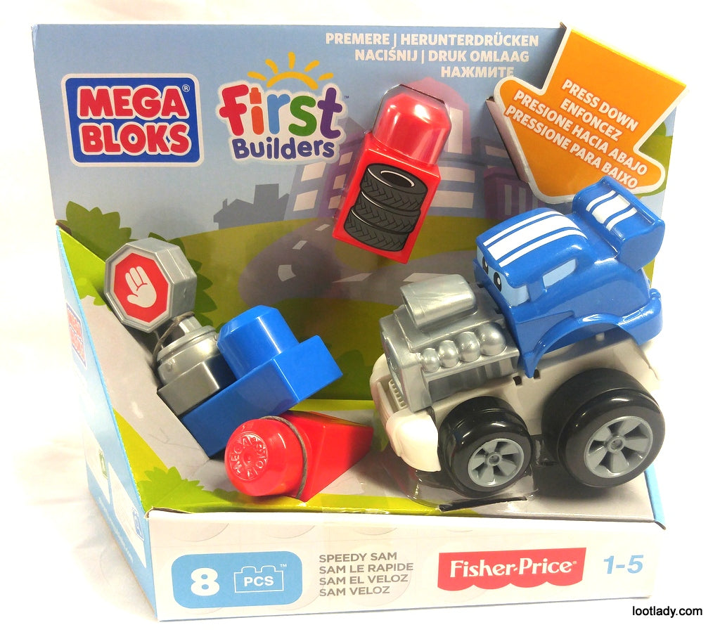 Mega Blocks Fast Wheel Hot Rods - Toddler Toy