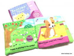 Infant Soft Coth Book - Bedtime Teddy or Puppy's Bedtime