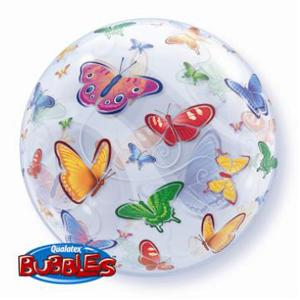 Butterfly Bubble Balloon -  Inflated