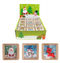 Christmas Wood Bead Maze Game (sold each)