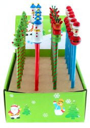 Christmas Pencils with Toppers (sold each)