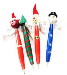 Christmas Wooden Pens (sold each)