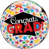 Congrats Grad Cap Bubble Balloon -  Inflated