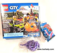 LEGO City Volcano starter set with New LEGO look bag!