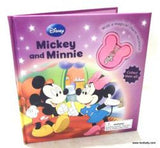 Minnie & Mickey Mouse Story Book with Necklace