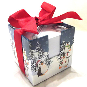 Christmas Note & Pen Cube Set - Penguin or Santa/Snowman