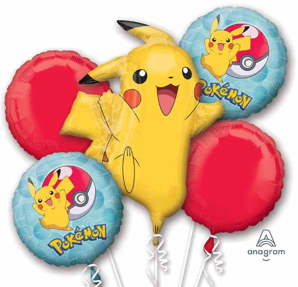 Pokemon Foil Balloon Bouquet -  Inflated