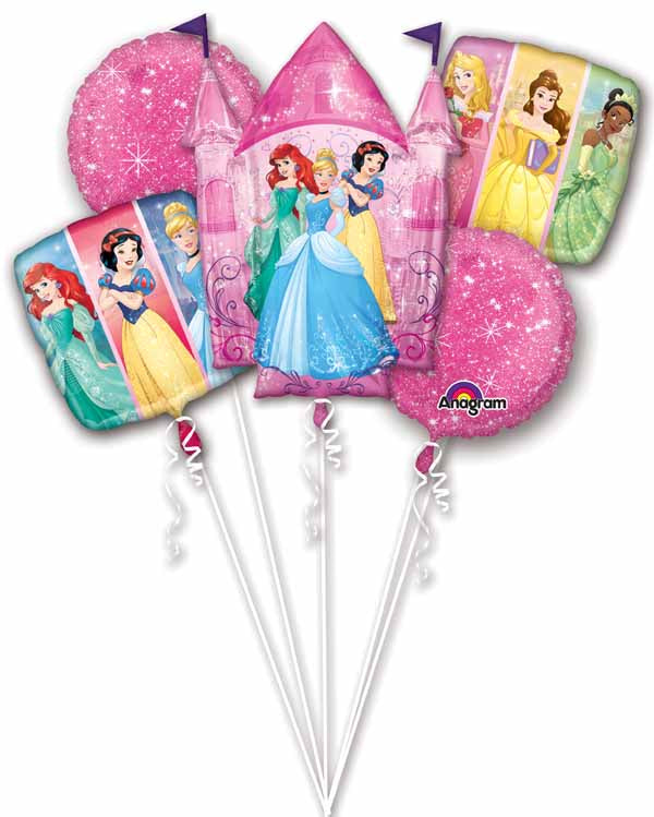 Disney Princess Dream Foil Balloon Bouquet -  Inflated