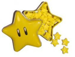 Retro Candy Mario Star Tin with Sours