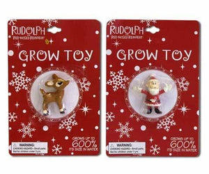 Rudolph or Santa Christmas Grow Toy - Sold Each