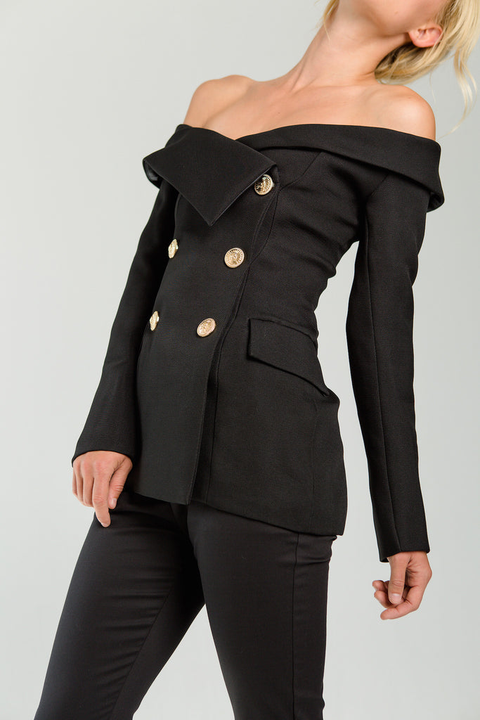 off the shoulder jacket curriculum fall collection new arrivals fashion