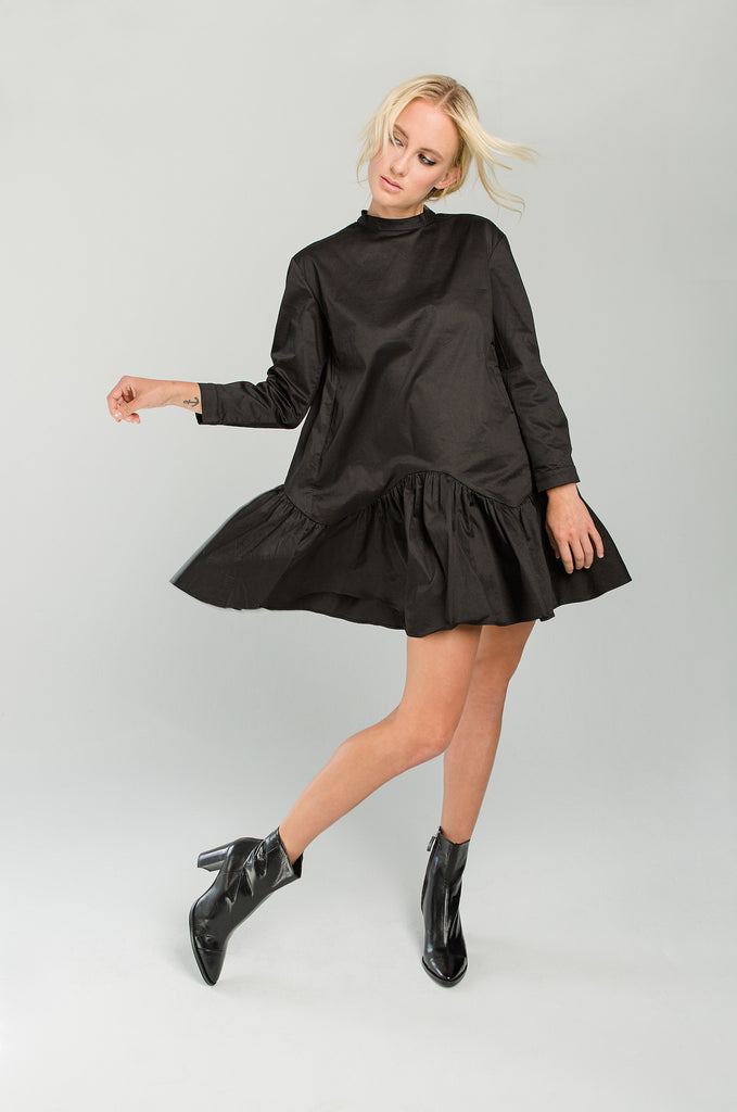 LBD Little black dress with dropped hem from curriculum shop