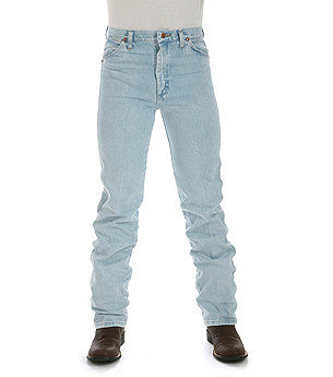 Men's Wrangler Jeans 936GBH Cowboy Cut Slim Fit Stone Bleach - Pete's Town Western Wear
