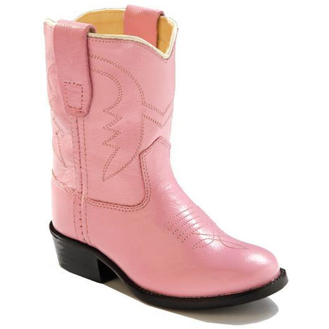 Jama Infant's and Toddlers All Pink Corona Leather Cowgirl Boots - Pete's Town Western Wear
