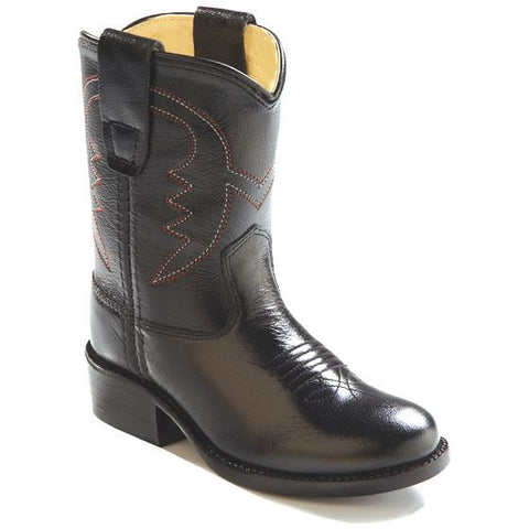 Jama Infant's and Toddler's Western Cowboy Boots Black Leather - Pete's Town Western Wear
