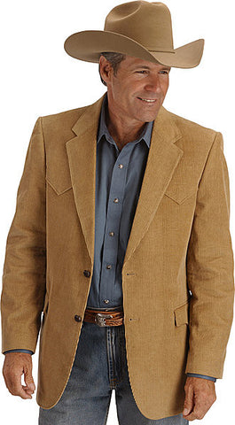 Men's Circle S Corduroy Sport Coat Camel - Pete's Town Western Wear