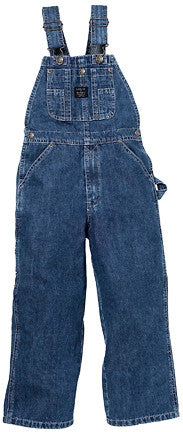 Key Premium Youth's Denim Bib Overalls Enzyme Washed - Pete's Town Western Wear