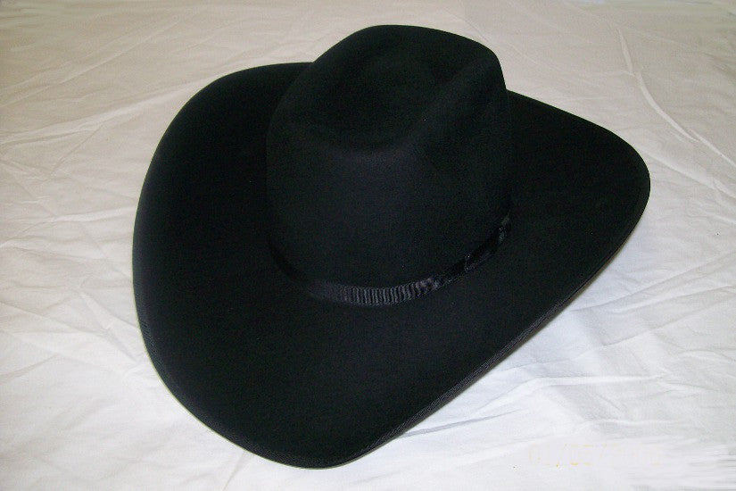 Resistol Kids Felt Collection Holt Jr Felt Cowboy Hat Black - Pete's Town Western Wear