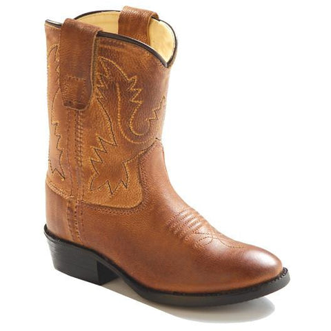 Jama Infant's and Toddler's Western Cowboy Boots Brown Leather - Pete's Town Western Wear