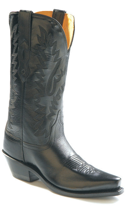 "Old West Women's 12"" Classic Black Western Fashion Cowgirl Boots - Pete's Town Western Wear"