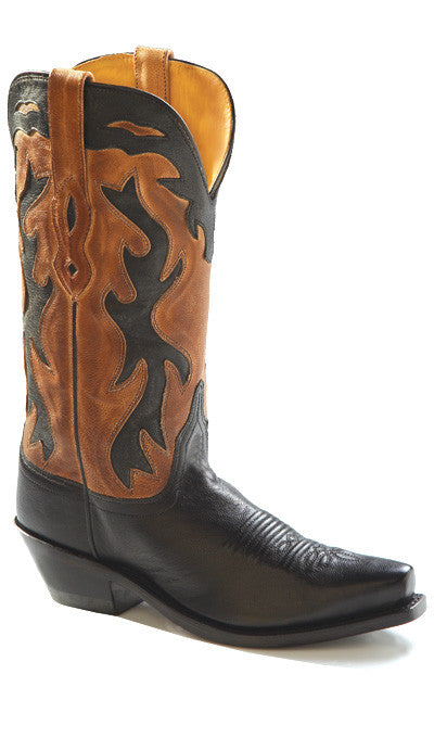 "Old West Women's 12"" Black & Tan Western Fashion Cowgirl Boots - Pete's Town Western Wear"