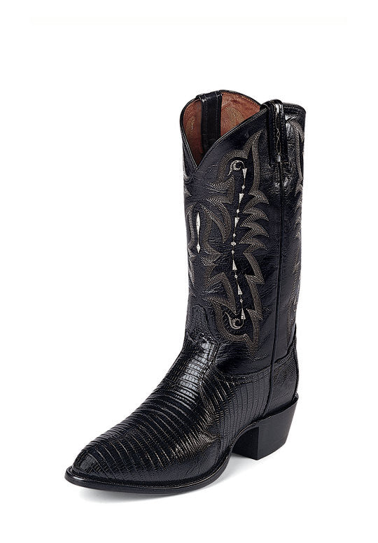 Tony Lama Men's Exotic Black Lizard Western Cowboy Boots - Pete's Town Western Wear