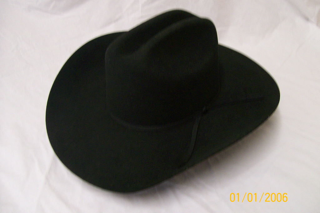 Resistol Kids Felt Collection Cross Roads Jr Cowboy Hat Black - Pete's Town Western Wear
