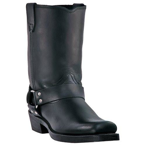 DIngo Men's Black Harness Biker Boot with Square Toe