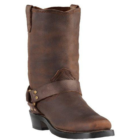"Dingo Mens 11"" Gaucho All Over Leather Motorcycle Harness Boots with Square Toe - Pete's Town Western Wear"