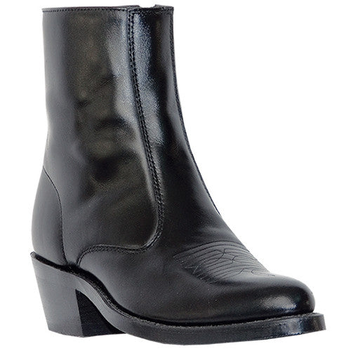Laredo Men's Black Traditional Western Style Zipper Boot