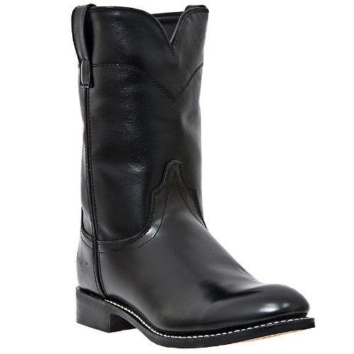 "Laredo Men's Roper 10"" Black Casual Leather Dress Boots - Pete's Town Western Wear"