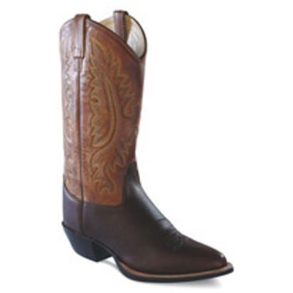 Jama Mens Two Tone Leather Narrow Round Toe Western Cowboy Boots - Pete's Town Western Wear