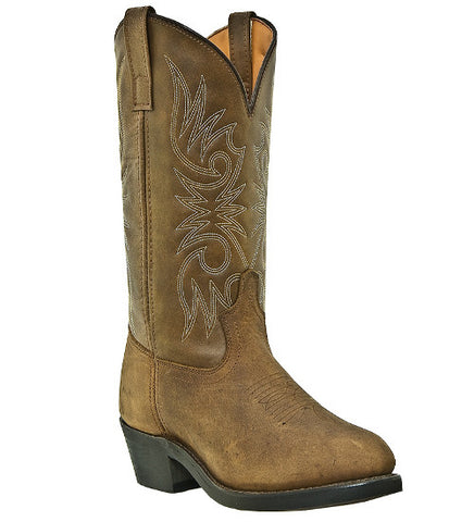 "Laredo Women's 11"" Tan Distressed Leather Western Work Boots - Pete's Town Western Wear"