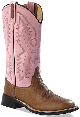 "Old West Women's 11"" Tan Canyon Western Fashion Square Toe Boots - Pete's Town Western Wear"