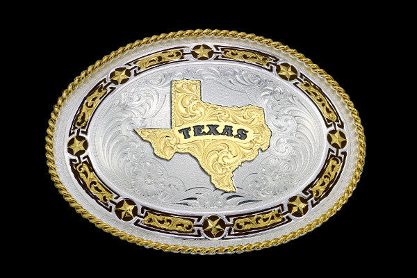 Montana SilverSmith State Of Texas Belt Buckle - Pete's Town Western Wear