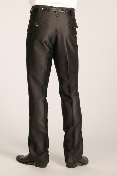 Men's Circle S Swedish Knit Boise Western Suit Slacks Black - Pete's Town Western Wear