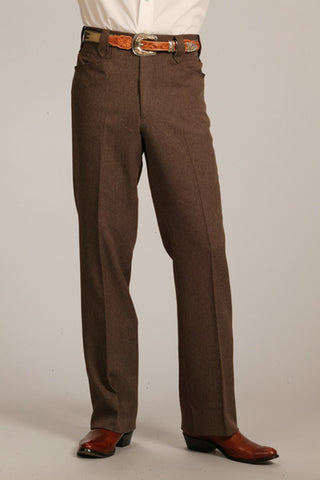 Men's Circle S Heather Boise Western Suit Slacks Chestnut - Pete's Town Western Wear