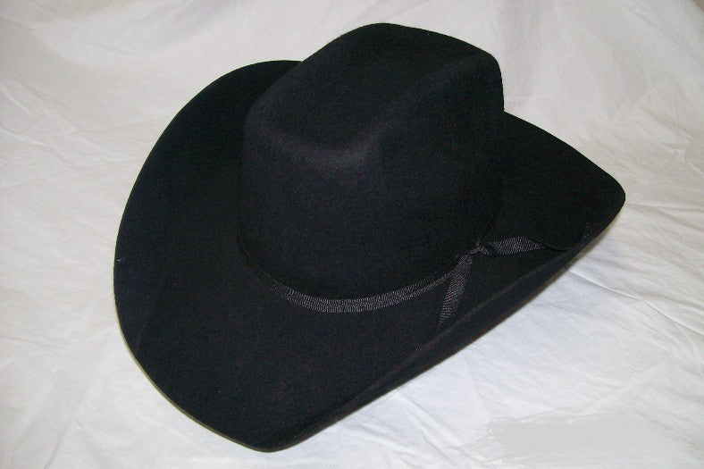 776e01458 M&F Kids Felt Collection Black Cattlemans Crown Cowboy Hat