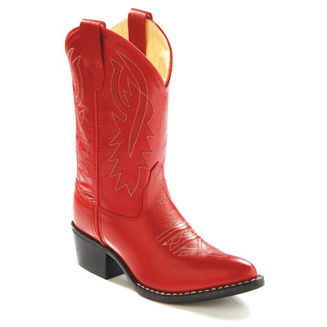 Jama Child's Red Western Cowgirl  Boots Corona Leather - Pete's Town Western Wear
