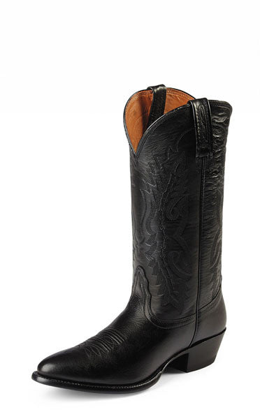 "Nocona Men's Western Cowboy Boots 13"" Black Imperial Leather - Pete's Town Western Wear"