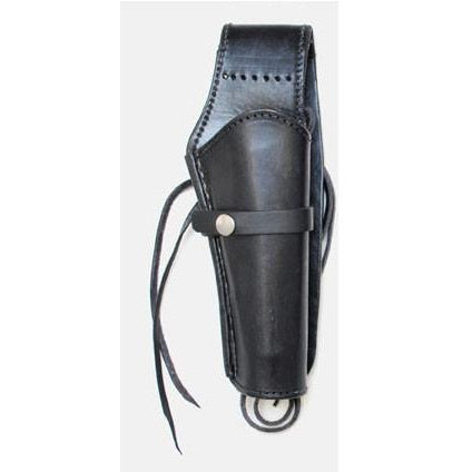 Hand Tooled Black Smooth Leather Western Ties Gun Belt Holster - Pete's Town Western Wear