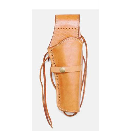 Hand Tooled Natural Smooth Leather Western Ties Gun Belt Holster