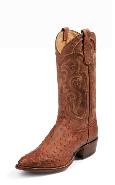 Tony Lama Men's Exotic Cognac Vintage Full Quill Ostrich Boots - Pete's Town Western Wear