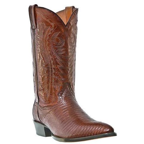 Antique Tan Lizard Skin Cowboy Boot