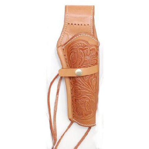 Hand Tooled Nat Embossed Leather Western Ties Gun Belt Holster - Pete's Town Western Wear