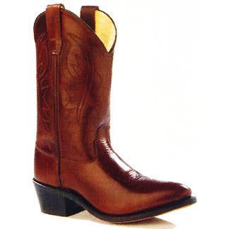 Jama Child's Western Corona Leather Antique Brown Cowboy Boots - Pete's Town Western Wear